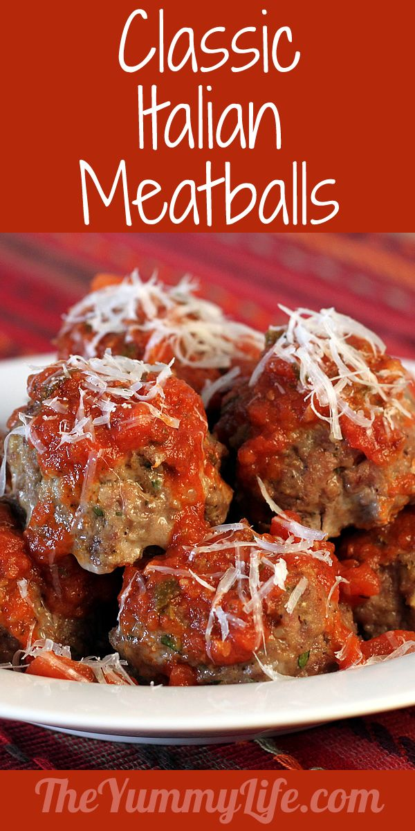 Classic Italian Meatballs. They're the most tender, delicious meatballs ever