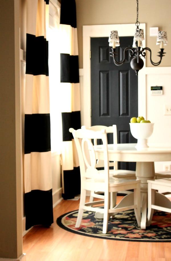 Painting interior doors black- cottage decorating