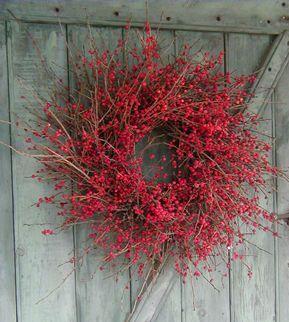 Winterberry holly wreath