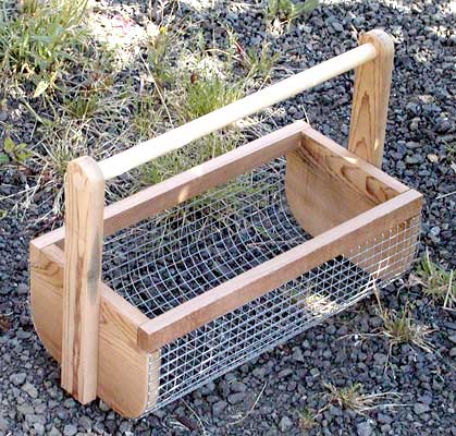 great for when you pick veggies/fruit, can hose them off before bringing inside-