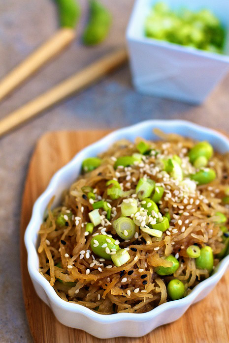 Spagetti Squash Sesame Noodles with Edamame: So I actually made my own sesame sa