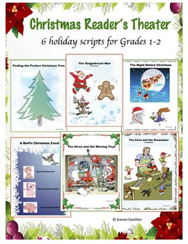 6 reader's theatre scripts for Christmas with stories about Santa, the elves