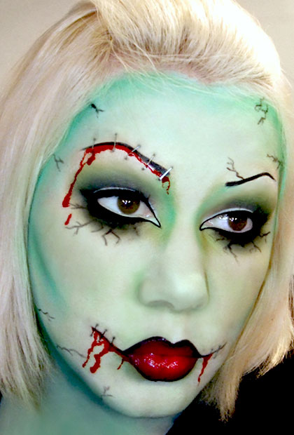 There is a delicate balance to pulling off a zombie look that is scary without b