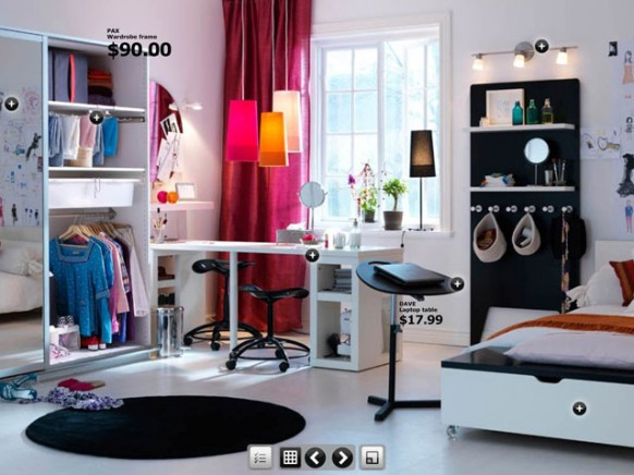 Cool girl's room, but has a lot of ideas for guys' rooms, too. #teen #ki