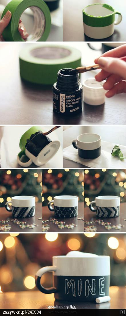 Great christmas gift idea! Chalkboard coffee mug