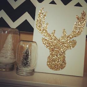 Glitter reindeer.