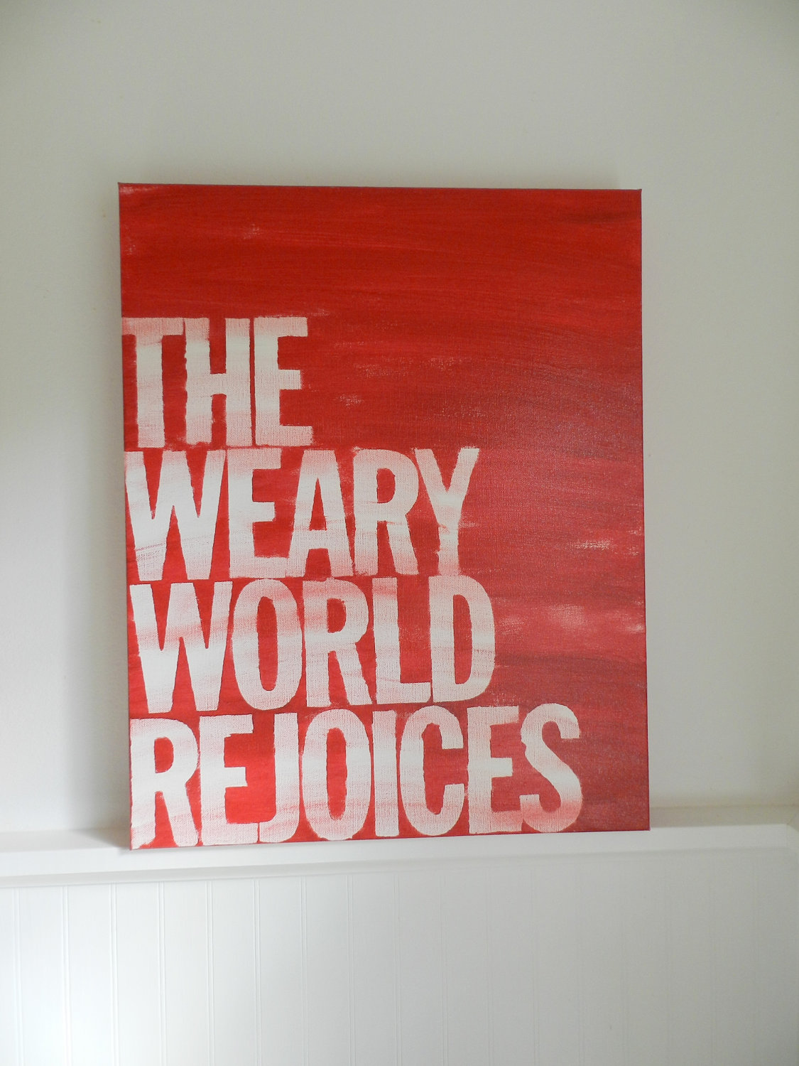 the weary world rejoices – love these words.