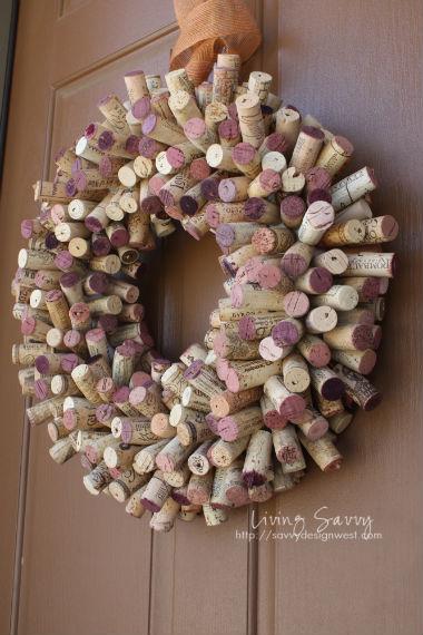 Cork wreath