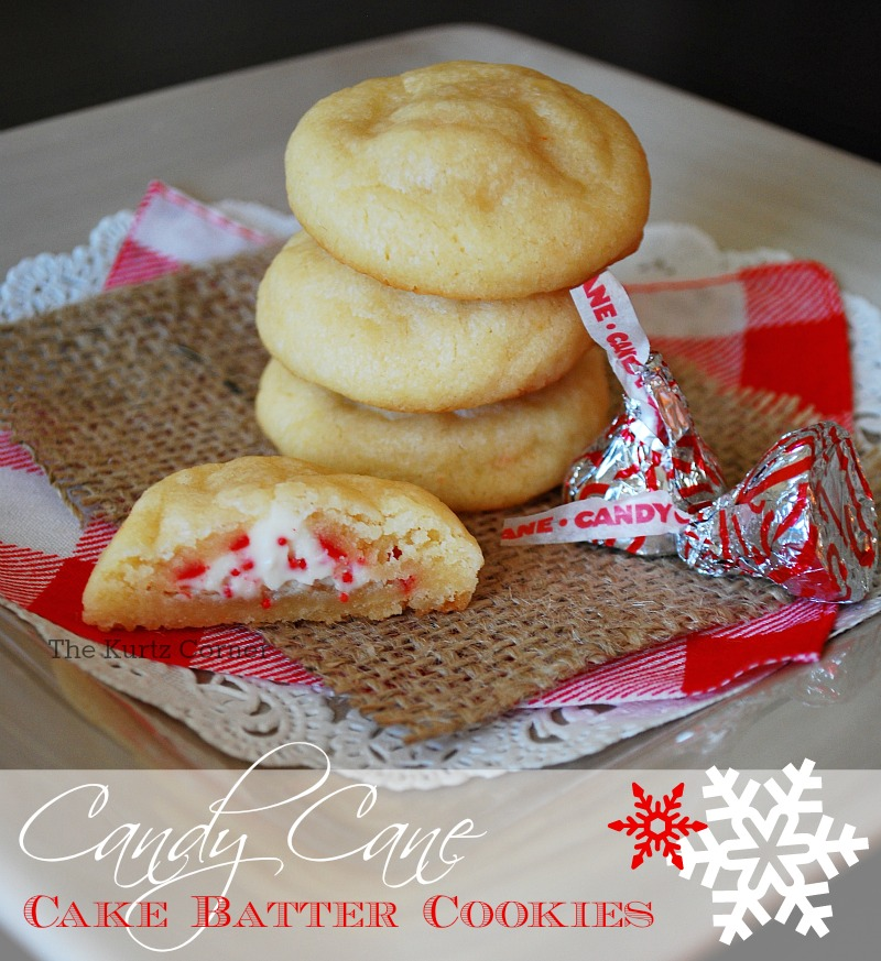 Candy Cane Cake Batter Cookies OMG