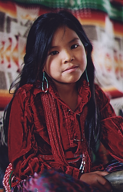 "Stacey Blackrock    ""Stacey Blackrock is proud to wear her traditional Navajo cl"