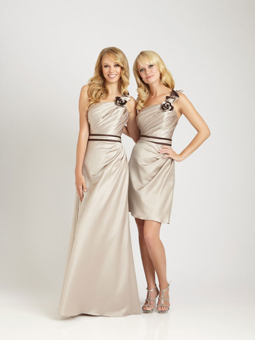 floor length bridesmaid gowns, but i really like the short one