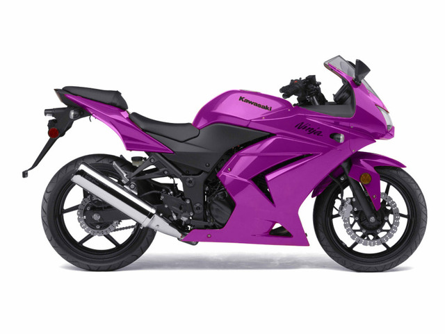 Kawasaki Ninja 500 in Purple.