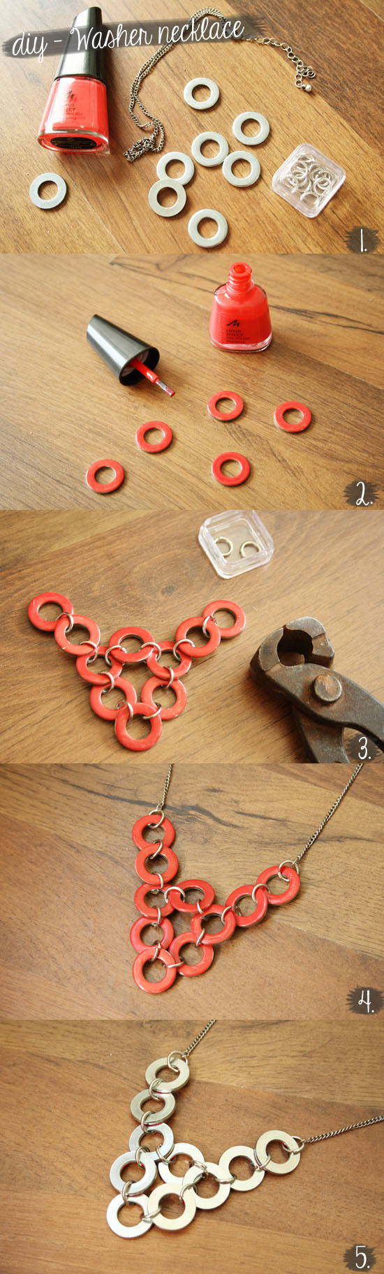 DIY – Washer necklace @ By Wilma