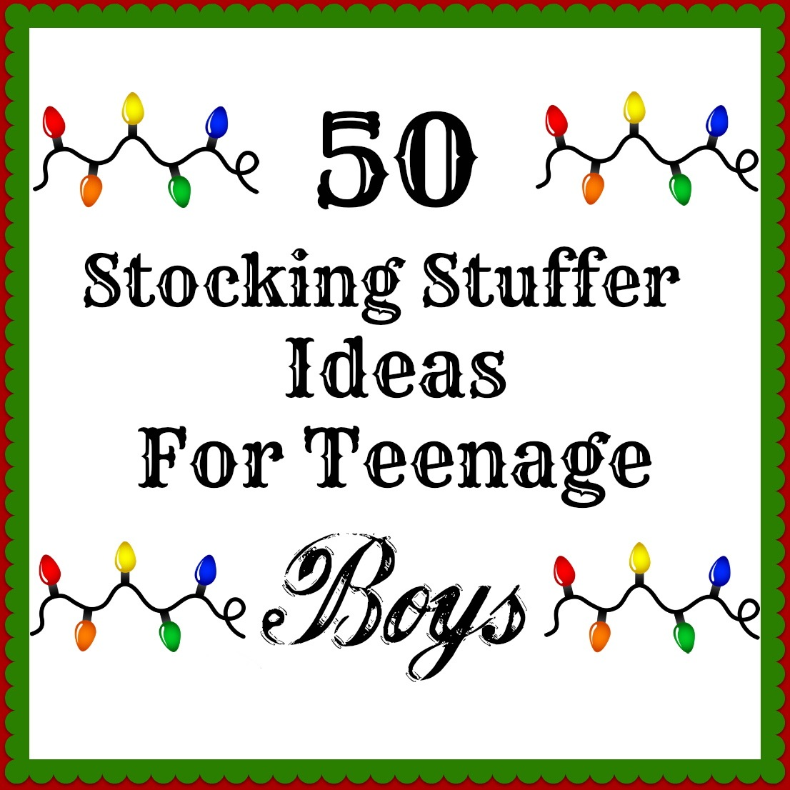 50 Stocking Stuffers For Teenage Boys…GREAT LIST. | PinPoint