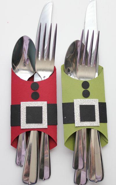 DIY:: So Cute Silverware Wrap !!! Love this idea! Last year I made Santa Claus h