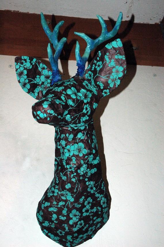 Blue Monday Paper Mache Deer Head Trophy Mount Faux di chaosdoll ~ For the cabin