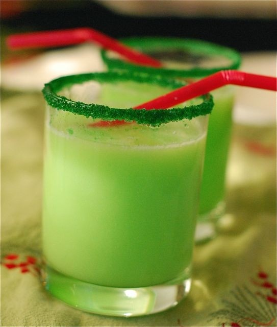"""Grinch Punch"" with Sprite and Lime sherbet and Green Sprinkles/suga"