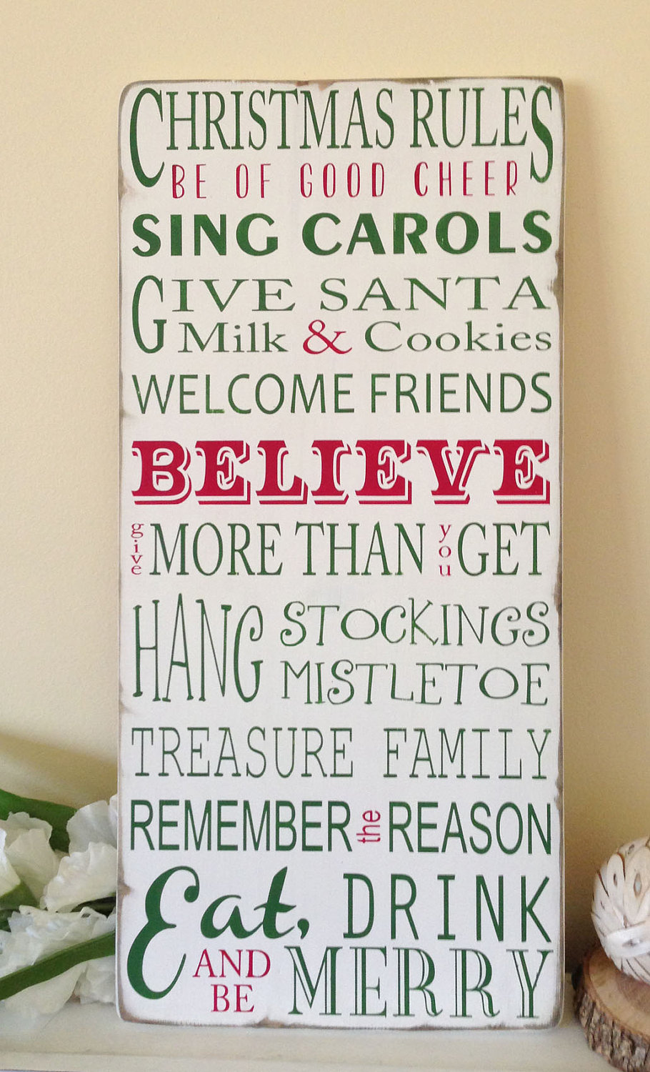 Christmas Rules Typography Word Art