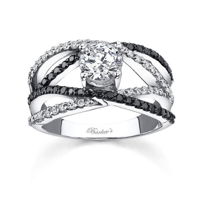 black engagement ring pinpoint