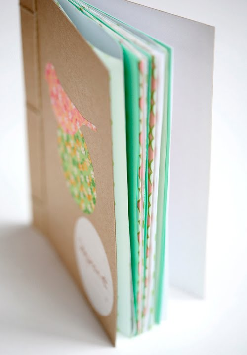 DIY book binding (as party favors: add graphics, glitter, &/or other embelli