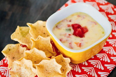 Queso recipe with real cheese… not Velveeta.