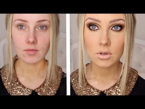 GOLD GLITTER + BRONZE  The miracle of makeup!