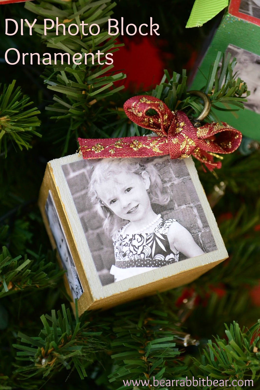 DIY Photo Block Ornaments with Mod Podge and Plaid Crafts