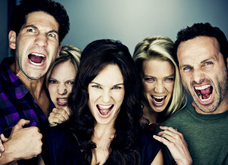 """Cool picture of some cast members from """"The Walking Dead"""". How awesome is the sh"""