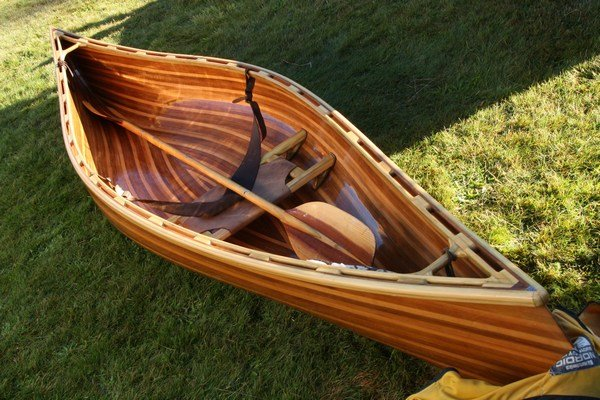 Gorgeous strip-wood canoe