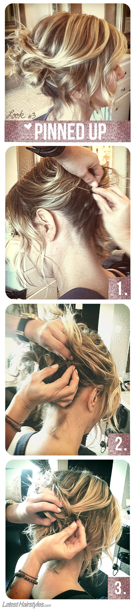 3 Hairstyles Anyone Can Do With a Short Bob Haircut – #3 Pinned Up