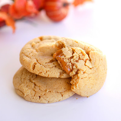 Caramel Apple Cider Cookiesby thegrilwhoateeverything #Cookies #Apple_Cider #Car