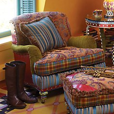 Highland Seating. Unbelievably comfortable. Tartan details woven exclusively for