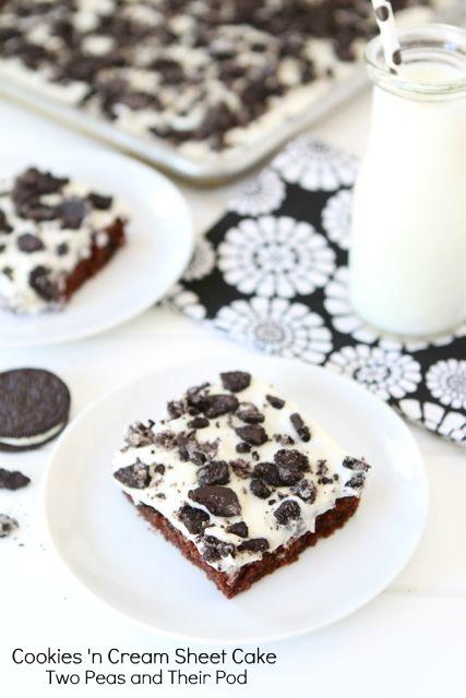 Cookies 'n Cream Sheet Cake