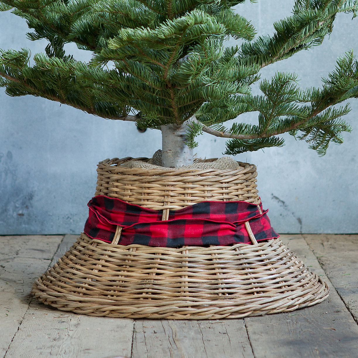 Wicker Bell Tree Skirt in Holiday Trim Your Tree Skirts+Toppers at Terrain
