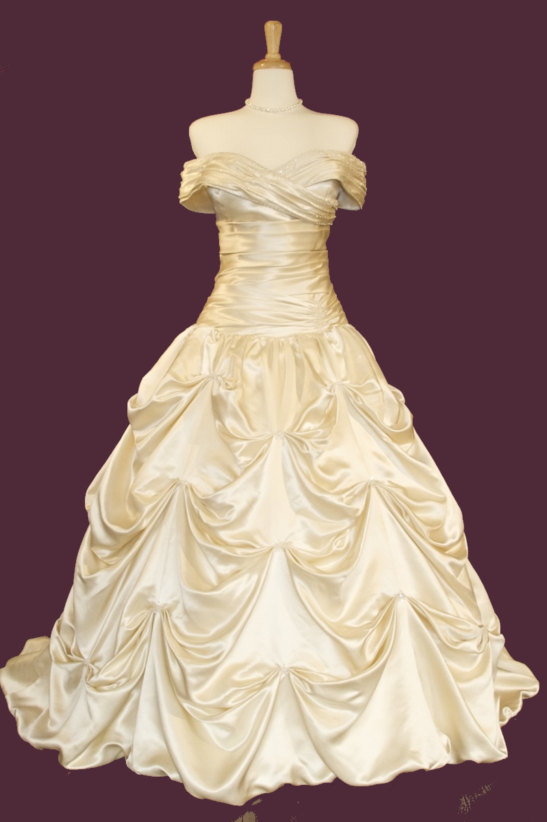 grecian style wedding dresses..looks like Bells dress from beauty and the beast.