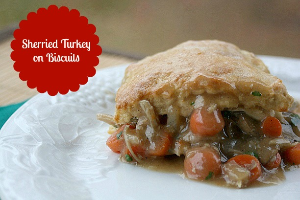 Easy after Thanksgiving recipe idea!   Sherried Turkey on Biscuits #McCormickGra