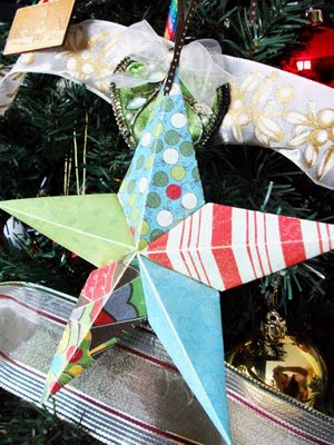 diy paper barn stars