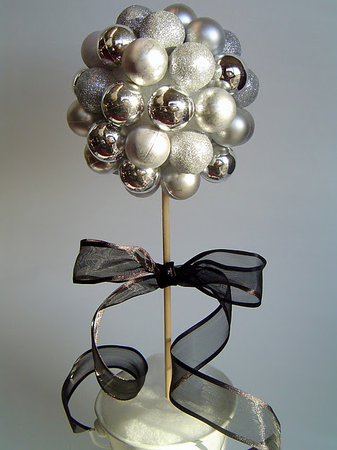 Christmas bulb decor, i want to do something like this but with blue/green for y