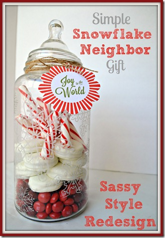 Simple Snowflake Neighbor #gift with Sassy Style Redesign #MarthaStewart #Michae