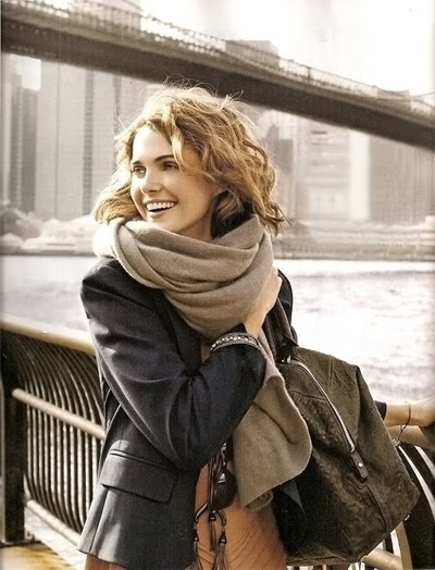 Love chunky scarves like this for fall. ~