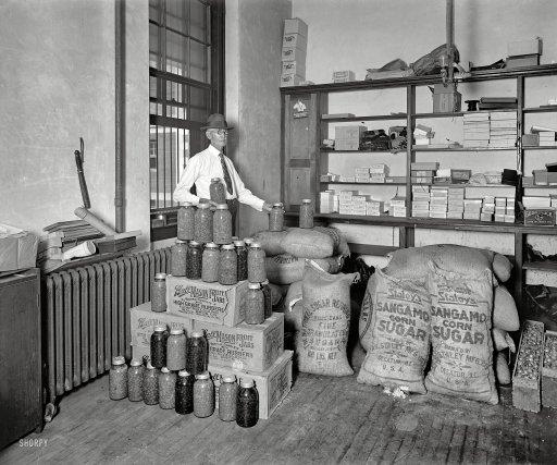 "Washington, D.C., circa 1929. ""Utilization of confiscated bootleg paraphern"