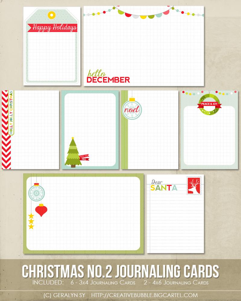 Christmas Journaling Cards (Digital)