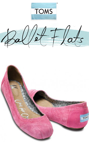 Add some pizzazz to your outfit with a new pair of TOMS Ballet Flats and help ma