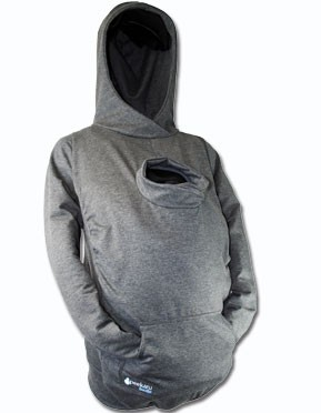 hahaha A hoodie for you and baby and no worries about the blanket not covering t