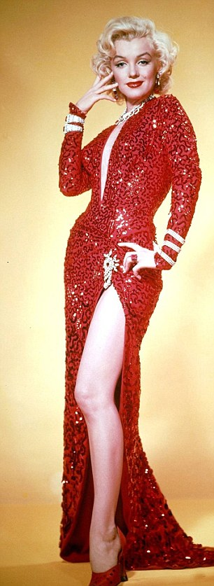 Marilyn Monroe- Wearing the dress in the publicity poster for Gentlemen Prefer B