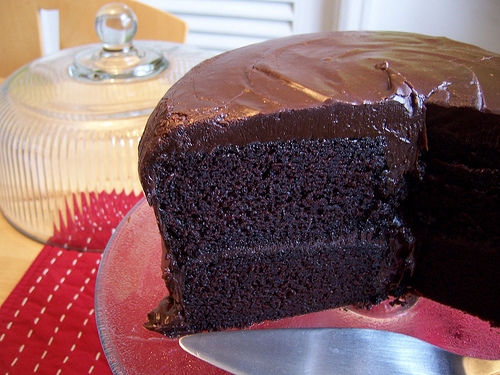 The most AMAZING buttermilk chocolate cake EVER