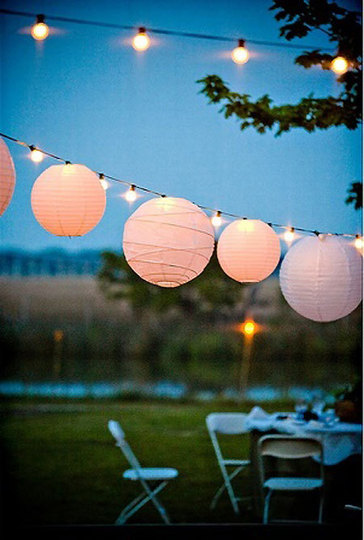 globe lights: strings of globe lights are always good, even when there isn't a p