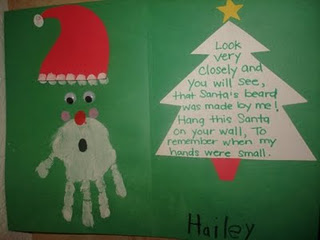 """The card says, """" Look very closely and you will see, that Santa's beard"""