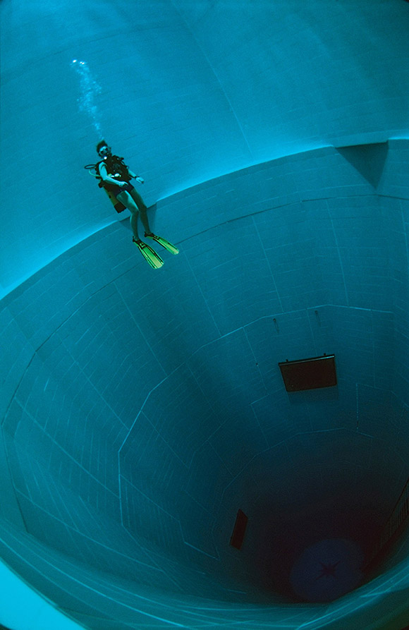 """Bucketlist Alert: Nemo 33 is the deepest pool in the world. """"The pool is lo"""