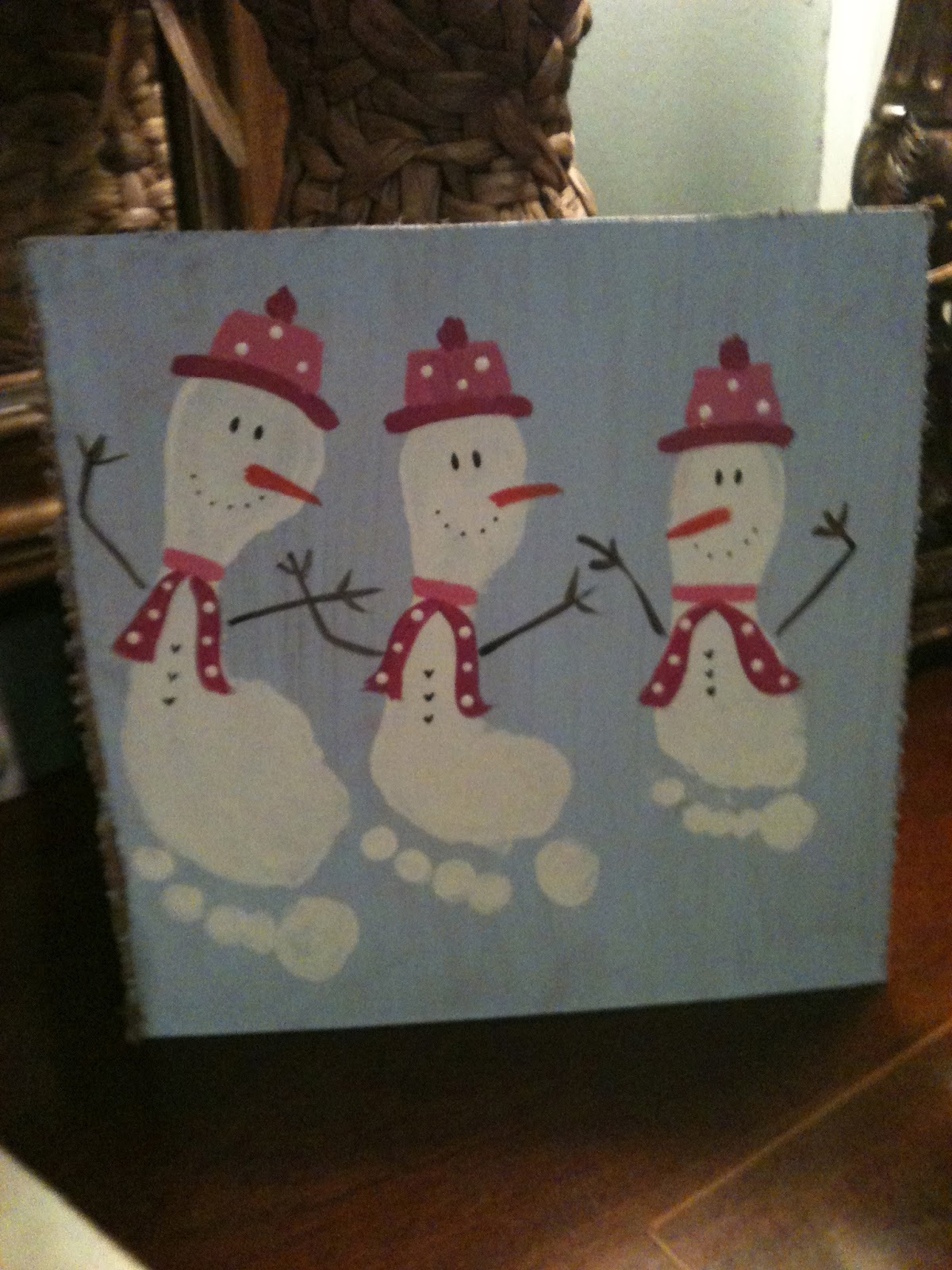 Snowmen feet!